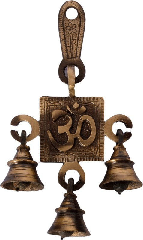 eCraftIndia Om Hanging Brass Pooja Bell(Brown, Gold, Pack of 1)