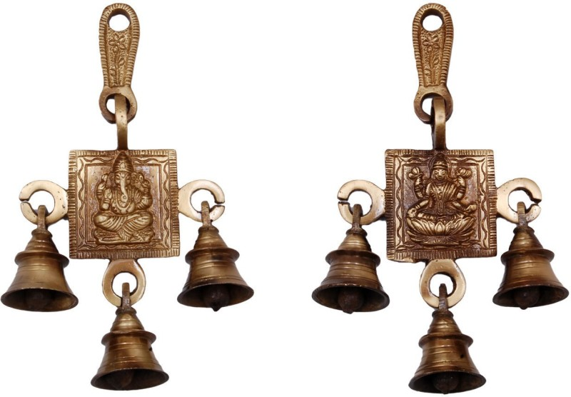 Handecor Ganesha Lakshmi Brass Decorative Bell(Pack of 2)