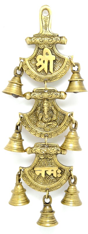Handecor Shree Ganeshaya Namah Curved Brass Decorative Bell(Pack of 1)
