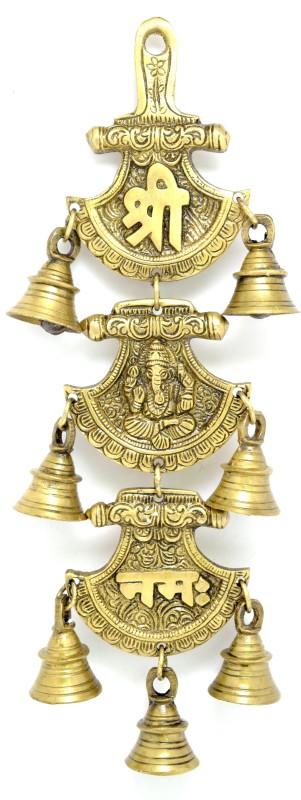 Handecor Shree Ganeshaya Namah Curved Brass Decorative Bell(Pack of 1)