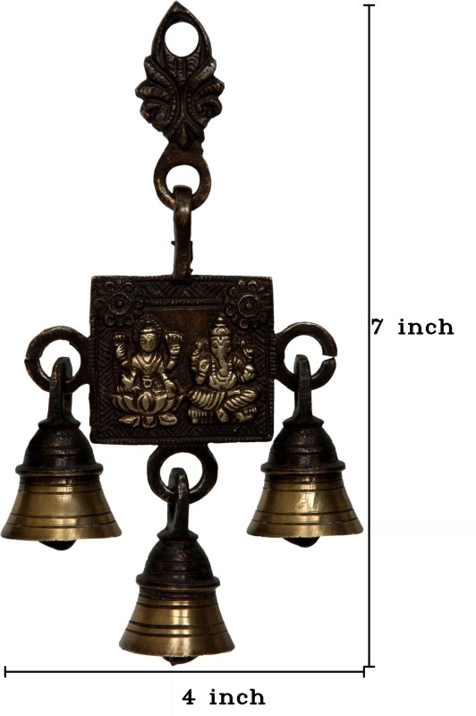 Aesthetic Decors Laxmi - Ganesh Brass Pooja Bell(Gold, Brown, Pack of 1)
