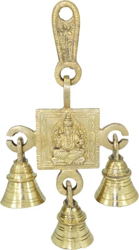 Soujanya Ganesha Brass Pooja Bell(Gold)