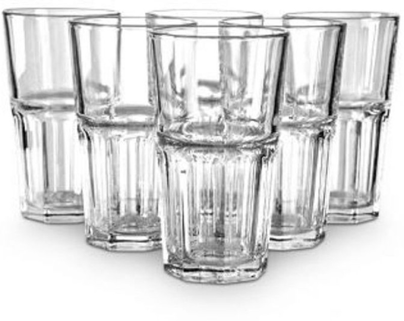 Ocean Centro Hi-ball Tumbler 280ml Glass Set(Glass, 280 ml, Clear, Pack of 6)