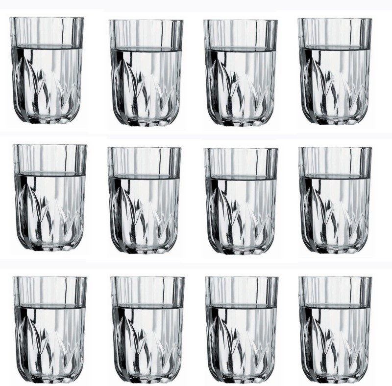 Pasabahce TOPAZ WATER Glass Set(215 ml, Clear, Pack of 12)