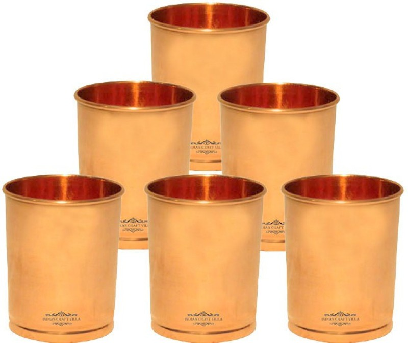 Indian Craft Villa Glass Set(1800 ml, Brown, Pack of 6)