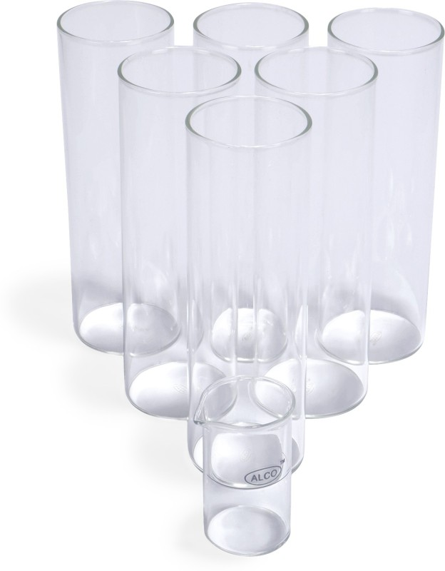 Alco Borosilicate Cocktail Glasses Glass Set(550 ml, Clear, Pack of 6)