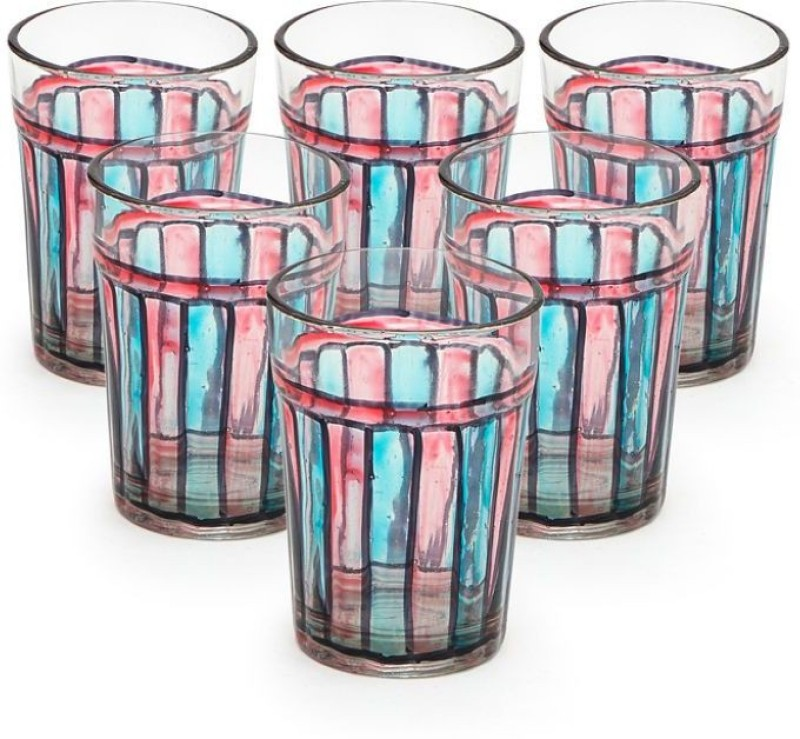 Kaushalam TG18 Glass Set(Glass, 120 ml, Multicolor, Pack of 6)