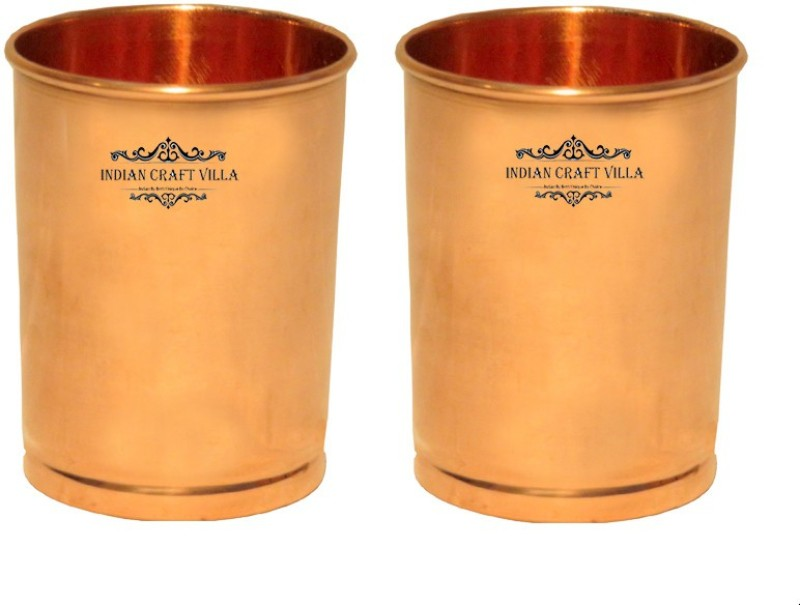 Indian Craft Villa Glass Set(600 ml, Brown, Pack of 2)