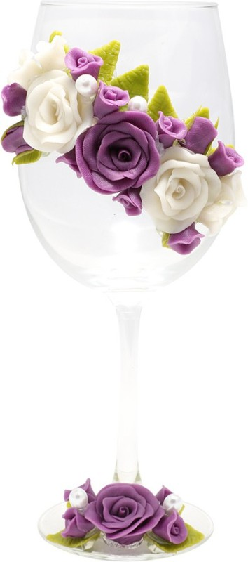Floral Wine Glass - Attractive Design - kitchen_dining