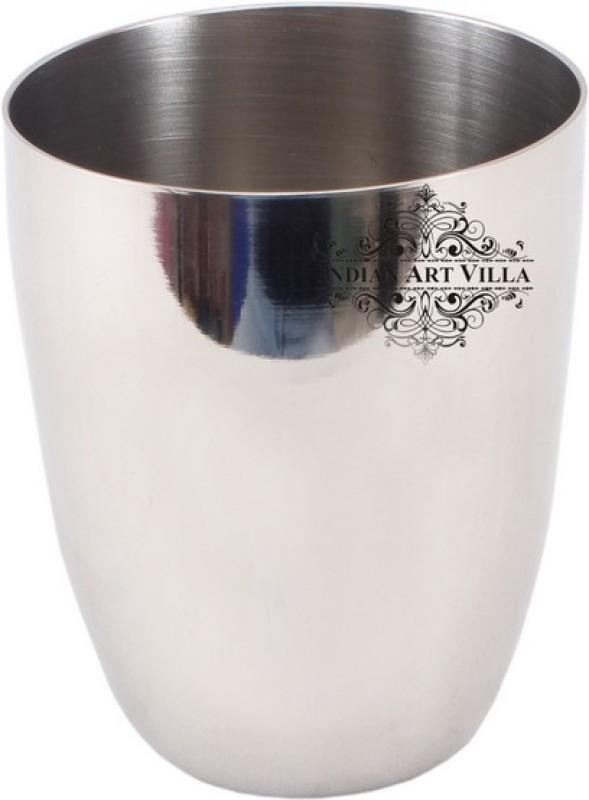 IndianArtVilla Glass(380 ml, Steel, Pack of 1)