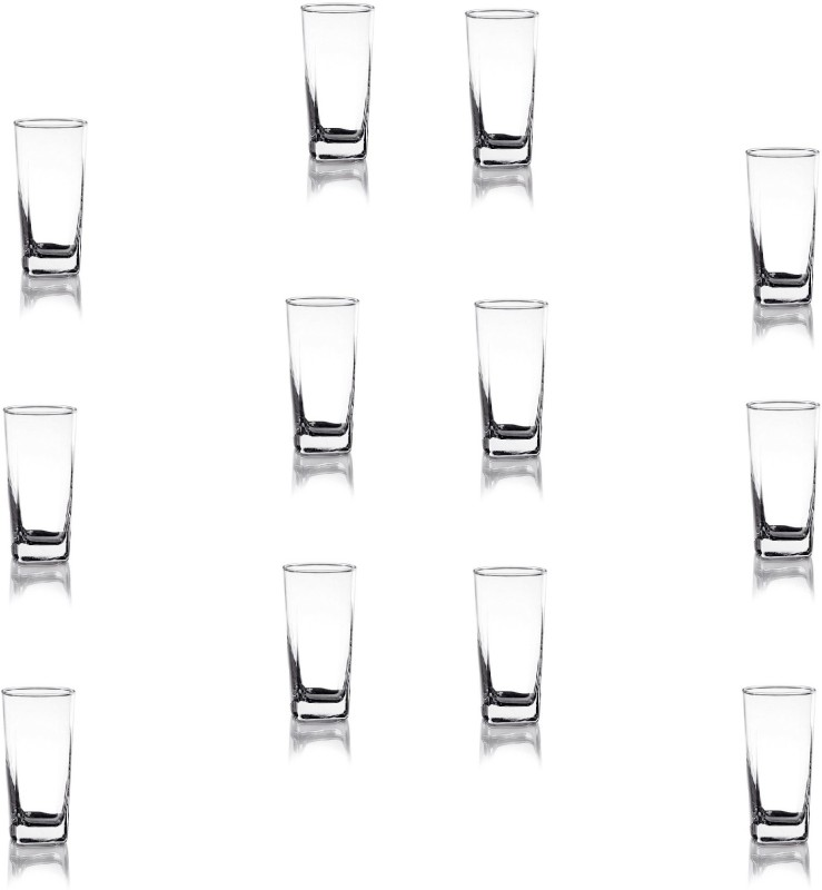 Ocean GO/ PLAZA Water Glass Glass Set(Glass, 320 ml, Clear, Pack of 12)