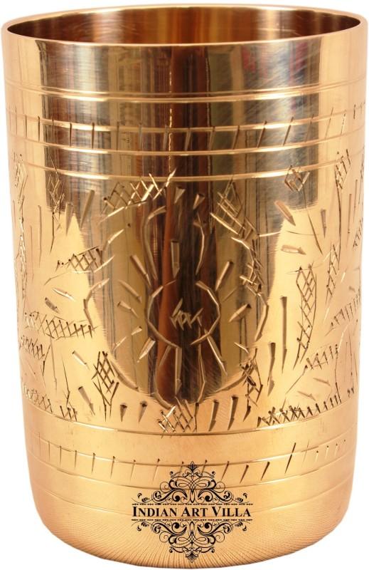 IndianArtVilla Glass(300 ml, Gold, Pack of 1)