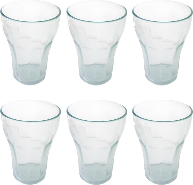 Apex PC Glass Glass Set(Plastic, 250 ml, Clear, Pack of 6)