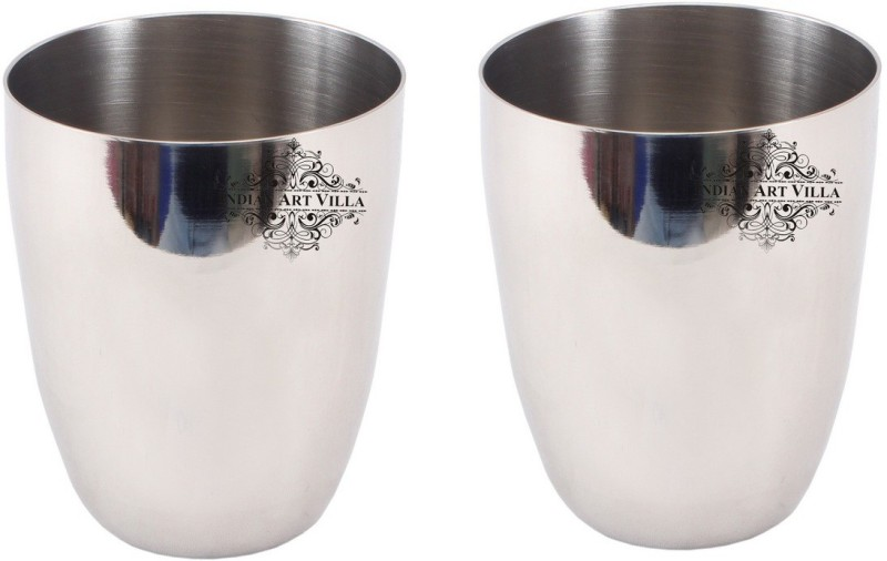 IndianArtVilla Glass Set(760 ml, Steel, Pack of 2)