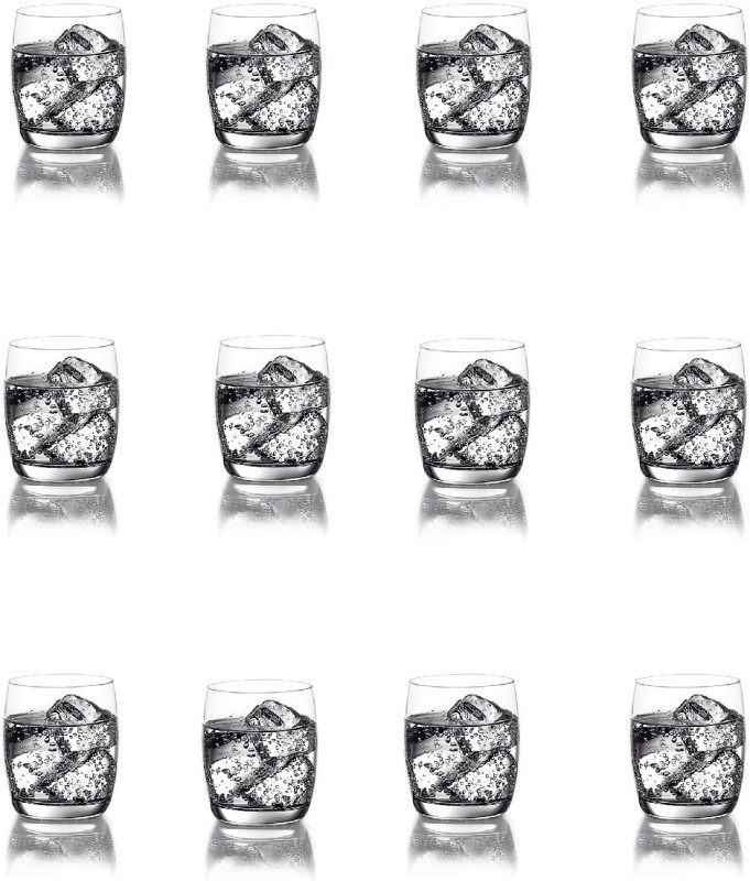 Ocean GO/Ivory whisky Glass Glass Set(Glass, 320 ml, Clear, Pack of 12)