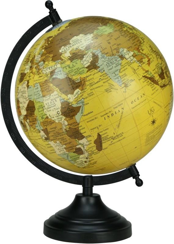 Globeskart Designer New Beige Desk and Table Top Political World Globe(Medium Beige)