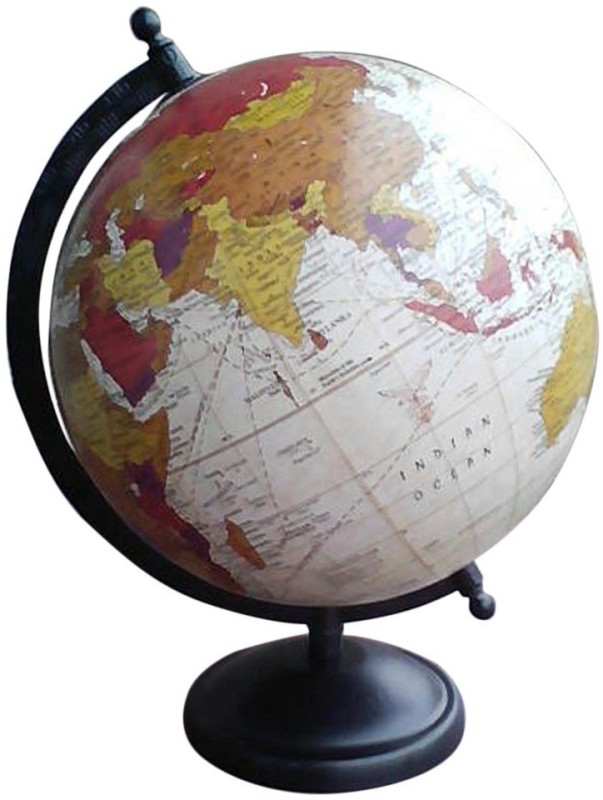 Cart4Craft Antique Look Multicolor Ocean Desk & Table Top Political World Globe(Medium Multicolor)