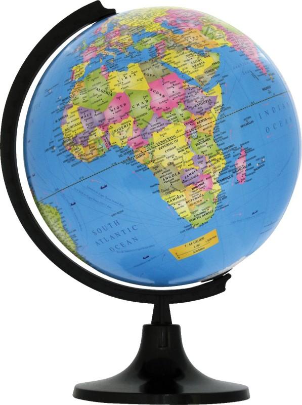 Winners Ornate 2020 Black Desk & Table Top Political World Globe(Large Blue)