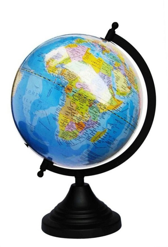 Snapup4u Blue Desk & Table Top Political World Globe(Medium Blue)