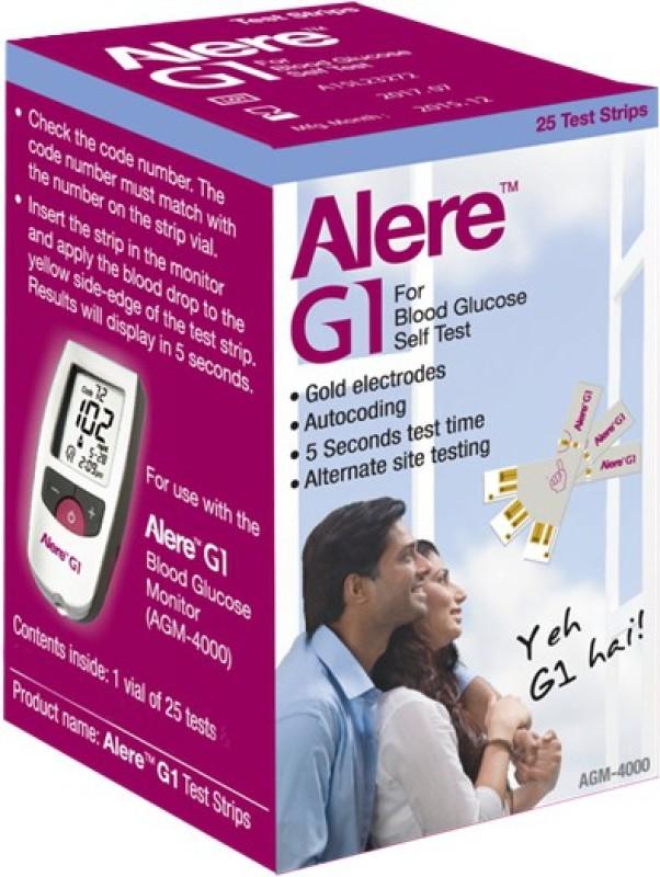 Alere G1 25 Glucometer Strips