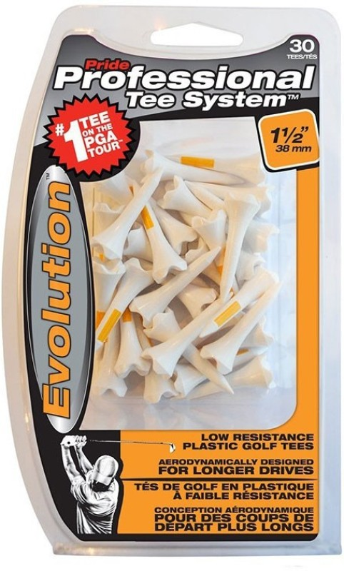 Pride Sports PTS Evolution 38 mm. Golf Tees(Pack of 30, White)