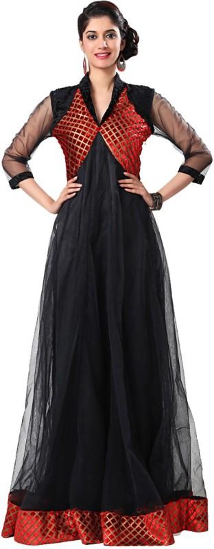 Eavan Indo Western Gown(Black, Red)