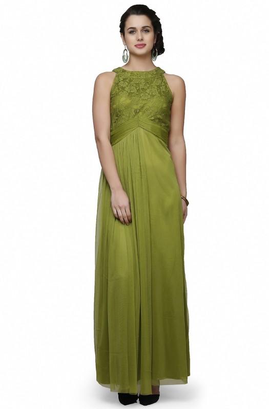 Eavan Flared Gown(Green)