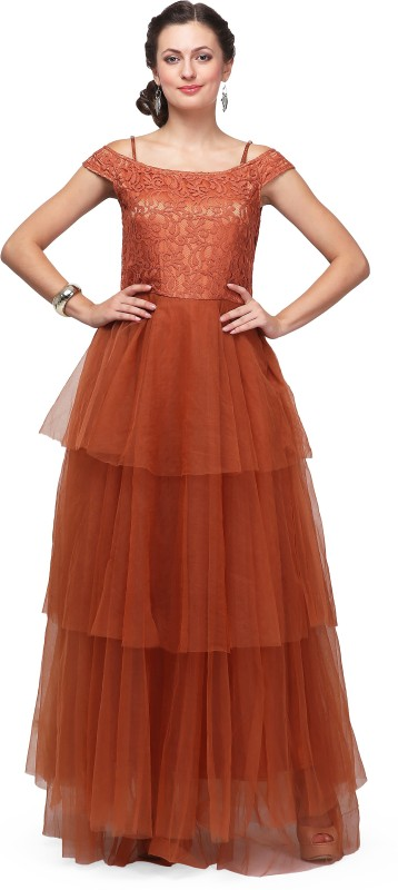 Eavan Flared Gown(Brown)