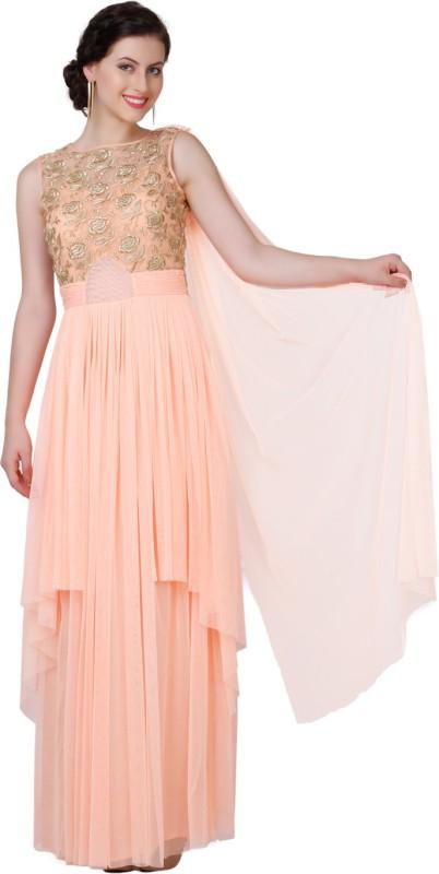 Eavan Flared Gown(Orange)