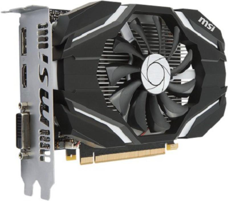 MSI NVIDIA GeForce GTX 1050 Ti 4G OC 4 GB GDDR5 Graphics Card(Black)