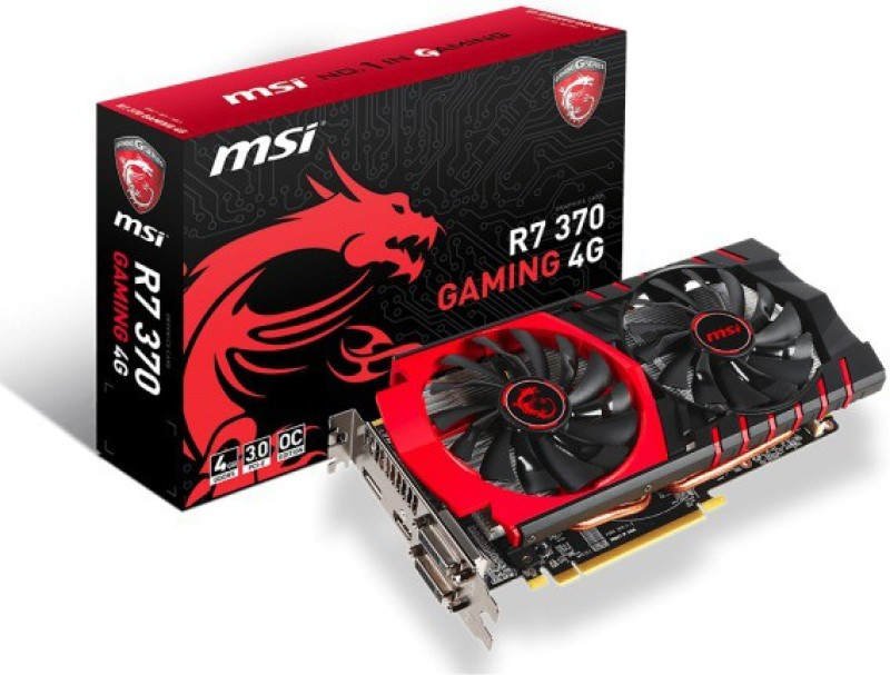 MSI AMD/ATI R7 370 GAMING 4G 4 GB GDDR5 Graphics Card(Black) image