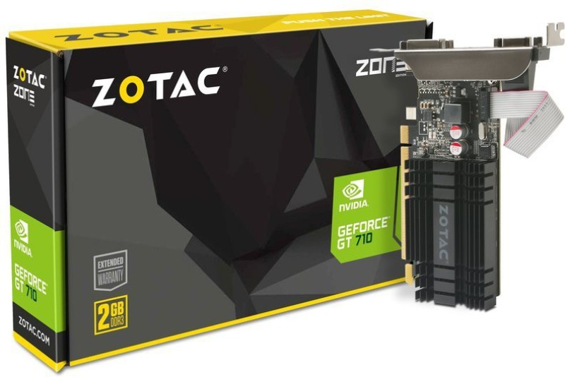 Zotac NVIDIA geforce gt 710 2 GB DDR3 Graphics Card(Black) image