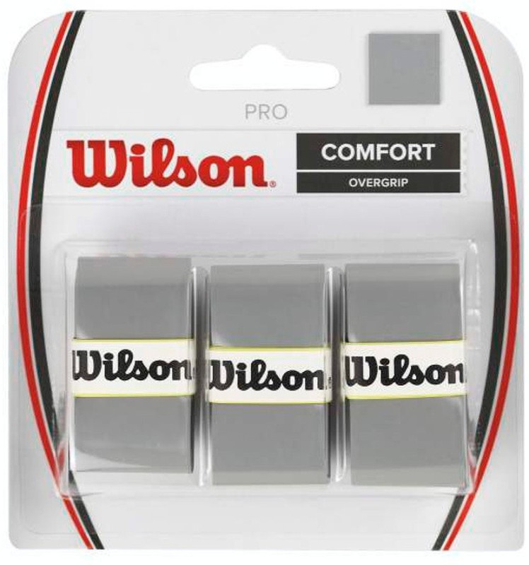 Wilson Pro Comfort Smooth Tacky(Grey, Pack of 3)
