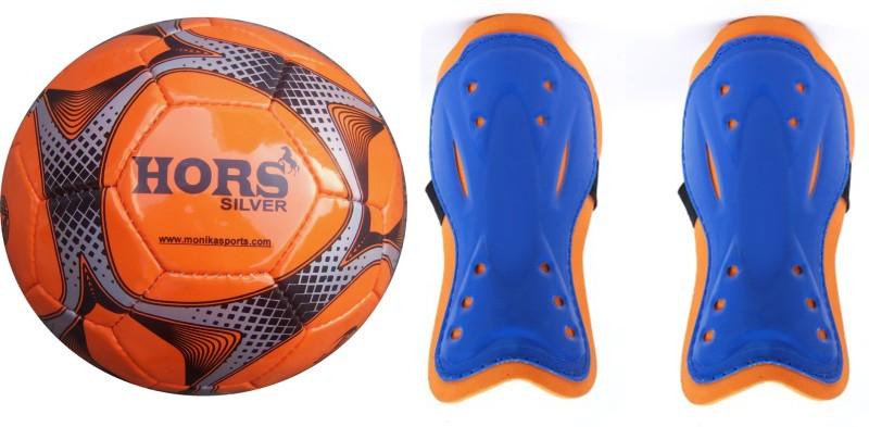 Monika Sports moni Football Shin Guard(Orange, Blue)
