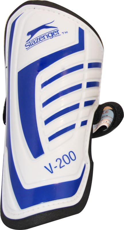 Slazenger V200 Football Shin Guard(White, Blue)