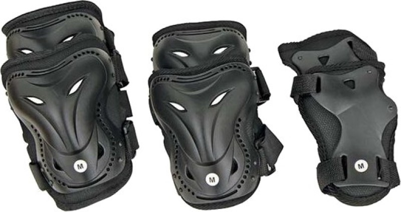 Nivia Skate Protectors Adjustable Skating Guard Combo(Black)