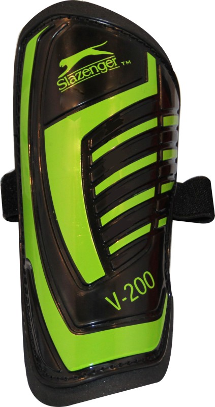 Slazenger V200 Football Shin Guard(M, Black, Green)