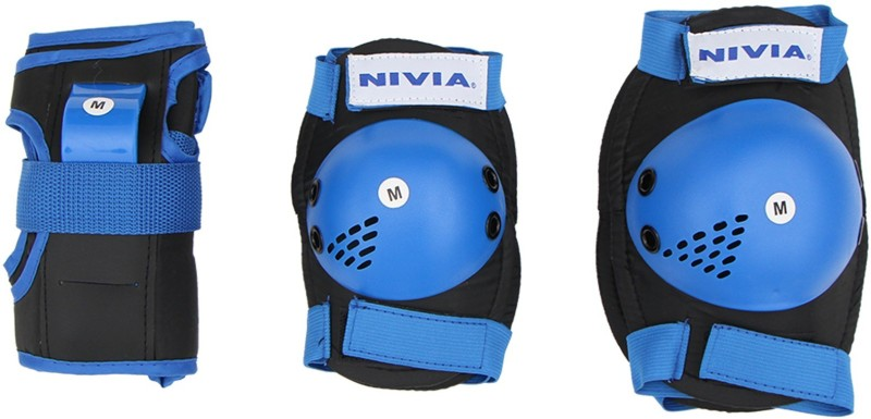 Nivia Blue Skating Guard Combo(Black, Blue)