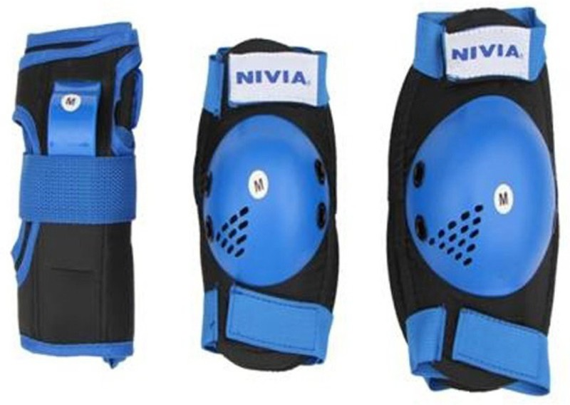 Nivia 811 L Skating Knee Guard(Blue, Black)
