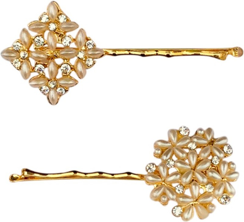B-Fashionable Dazzling Pearl Bobby Hair Pin(Gold)