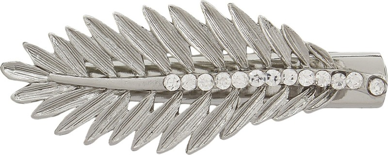 Blueberry Leaf Shaped Hair Clip(Silver) Leaf Shaped