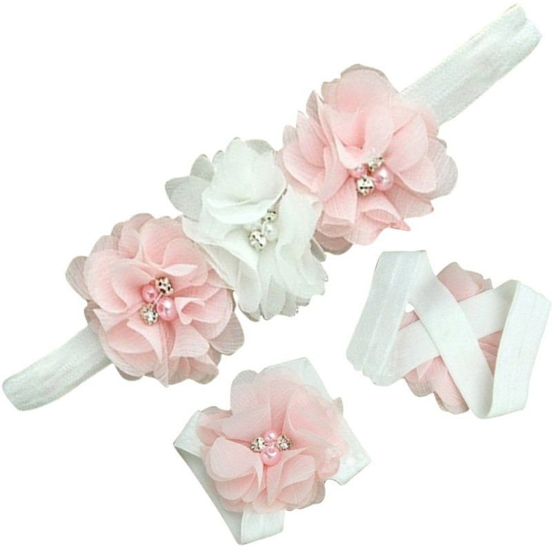 AkinosKIDS Rosset Diamond pearl embellished Hair Accessory Set(White)