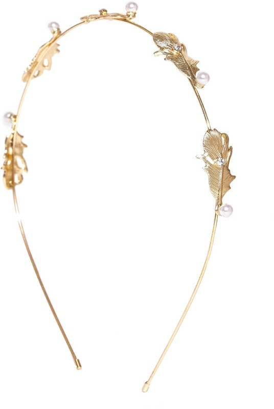 Blueberry Embellished Hair Band(Gold) Embellished
