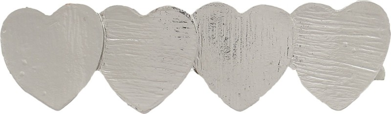 Blueberry Heart Shaped Hair Clip(Silver) Heart Shaped