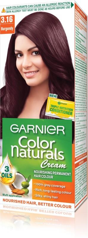 Garnier Color Naturals Regular Shade 3.16 Hair Color(3.16 burgundy)