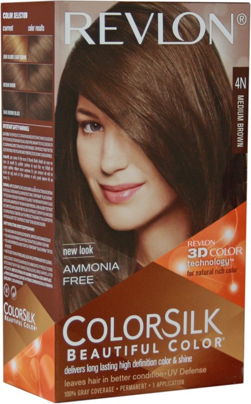 Revlon Colorsilk With 3D Technology Hair Color(Medium Brown 4N)