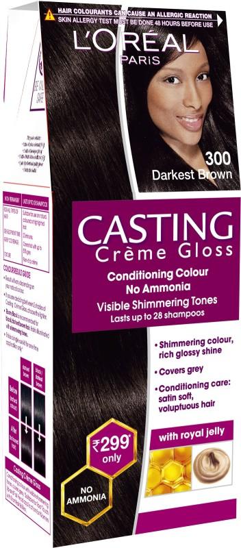 LOreal Paris Casting Creme Gloss Hair Color(Darkest Brown 300)