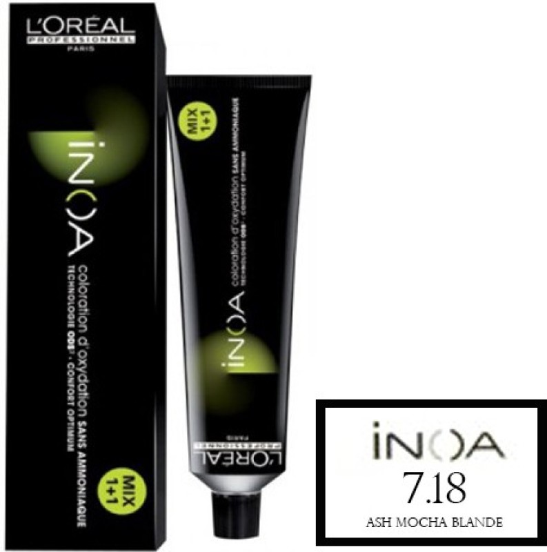 L'Oreal Paris Inoa  Hair Color(7.18 Ash Mocha Blonde)