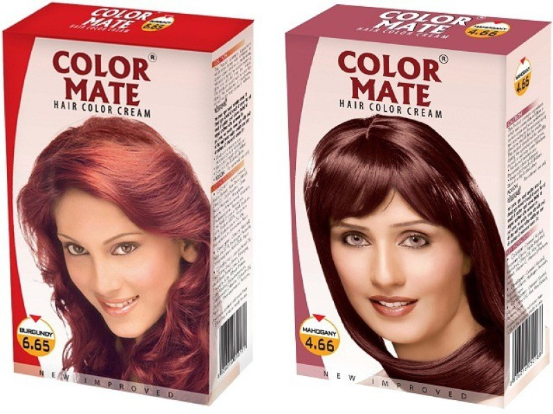Color Mate Cream Hair Color(Burgundy, Mahogany)