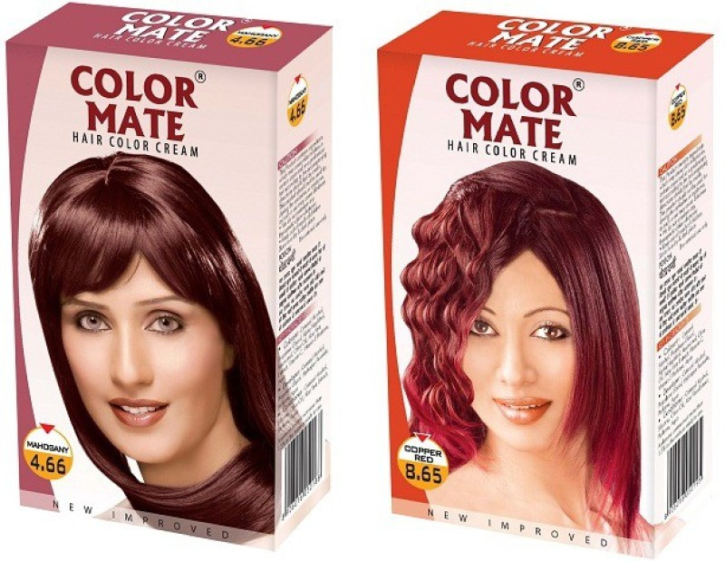 Color Mate Cream Hair Color(Mahogany, Copper Red)